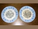 Setje Delfs blauwe borden