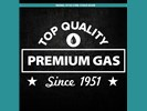 Sticker Top Qualilty Premium Gas : Wit