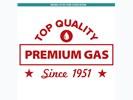 Sticker Top Qualilty Premium Gas : Rood