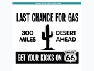 Sticker Last Chance For Gas: Zwart