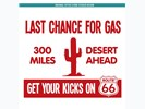 Sticker Last Chance For Gas: Rood