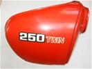 Honda CB250/400T Zijkap Rechts Rood