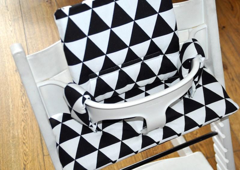Zwart Wit Kussens : Aztec zwart wit kussens voor stokke tripp trapp kinderstoel