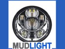 MUDLIGHT LED 5 3/4 Inch, 143mm speaker koplamp.