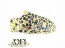 Cartier panther ring met diamanten en saffier