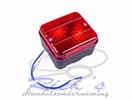 Mistachterlicht, mistlamp 70 x 80 mm met lampje