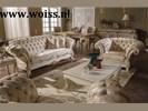 WOISS Engelse stijl klassieke barok chesterfield bankstellen