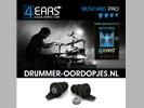 4EARS Oordopjes voor Drummer - Oordoppen Drummen