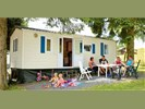 Stacaravan 4p camping met zwembad,La Roche