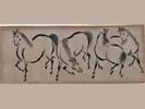 Kiosai grey-wash paarden 9 x 23 cm