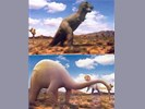 Dinosaurus op telefoonkaart x 2