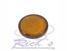 Reflector rond kleur: oranje ,rood,of wit 58 mm plak