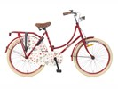 Omafiets 24 inch rood
