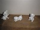 Hondjes - steen 3 stuks - nieuw