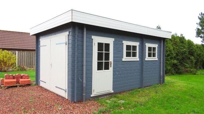 Tuinhuis Blokhut Garage Platdak 3755 375 X 550 X 260