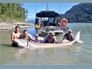 Fraser River steurvissen vanuit Chilliwack