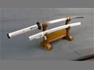Wit Damast katana zwaard (sabel, mes, zwaarden