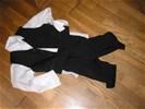 Bruidsjonker pakje ,maat 116 - zwart, - 3 delig