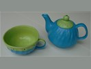 TEA FOR ONE SET BLAUW GROEN 2 stuks Nieuw