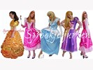 Sprookjes Disney prinses prinsessenjurk thema HUUR of KOOP