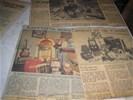 VERZAMELEN, UNIEK, groot behangboek vol met krantenknipsels
