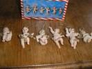 ENGELTJES, 6 stuks, voor in de kerstboom