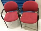 2 Degelijke stevige zware representatieve armleun stoelen.