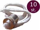 Lonthouder voor olielampen met kraag en 28cm lont 10 stuk