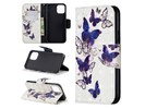3D Colored Drawing Pattern Horizontal Flip Leather Case for
