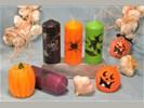 Set van 6 verschillende HALLOWEEN kaarsen (+ gratis nep