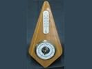 Vintage baro-/thermom,hooggl.kersenh.montuur,jr'60,28 cm.gst