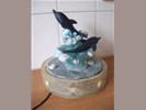 Dolfijnen water fontein met verlichting
