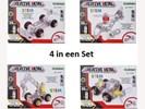 Bouwpakket Creative Metal Set van 4 Stuks 7,3 Cm Raceauto +