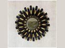 BLACK LION spiegel - Metaal & Spiegelglas - Zwart &