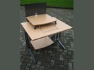 1x Computer tafel B100xD80cm.