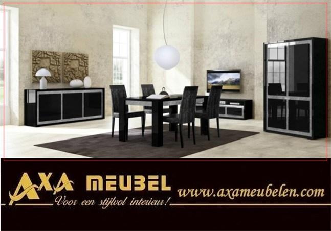 Hoogglans zwart modern swarovski meubelen ada rotterdam