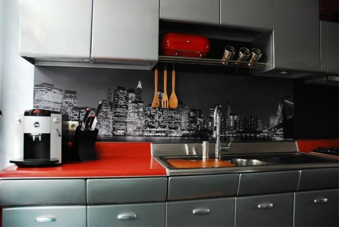 Originele keuken achterwand met fotoprint of curlz