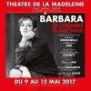 Barbara et l'homme en habit rouge Théâtre de la Madeleine Genève Billets