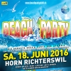 Beachparty Richterswil 2016 Hornareal Richterswil, am See Tickets