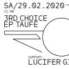 3rd Choice EP-Taufe Gaskessel Bern Billets