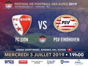 Match de Gala International de Football - FC Sion vs PSV Eindhoven