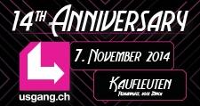 14th anniversary usgang.ch