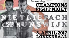 CHAMpion's Fight Night 2017 Lorzensaal Cham Billets