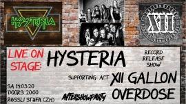 Record Release Show Hysteria Rösslisaal Stäfa Biglietti