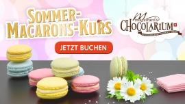 Maestrani: Sommer Macarons-Kurs Maestrani's Chocolarium Flawil bei St. Gallen Tickets