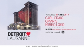 Detroit Love D! Club Lausanne Billets