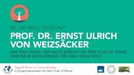 Prof. Dr. Ernst Ulrich von Weizsäcker Casino Theatersaal Winterthur Billets