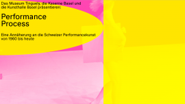 PerformanceProcess Diverse Locations Diverse Orte Tickets