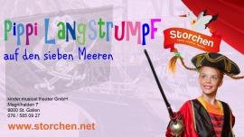 Pippi auf den sieben Meeren Kinder.musical.theater Storchen St.Gallen Tickets