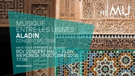 Aladin BCV Concert Hall Lausanne Tickets